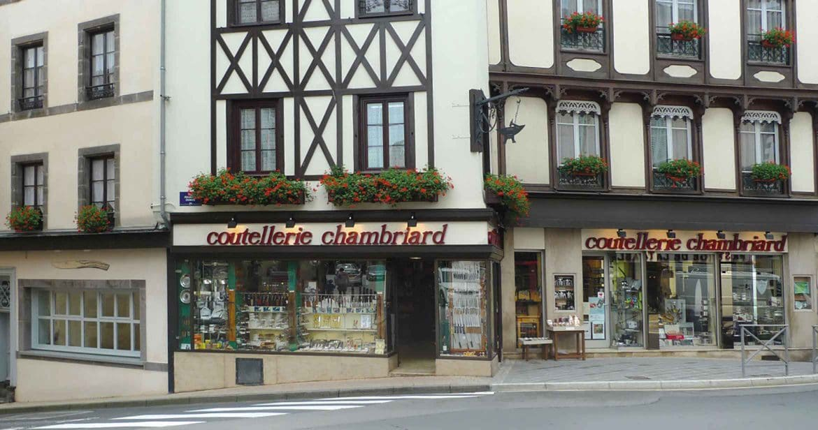 Façade du magasin Coutellerie Chambriard